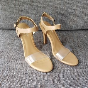 SEYCHELLES Nude Strappy Leather Sandals Heels